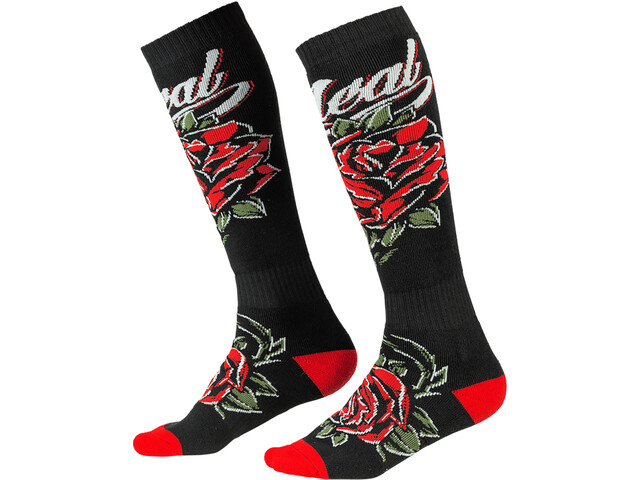 O'Neal Pro MX Socks roses-black/red
